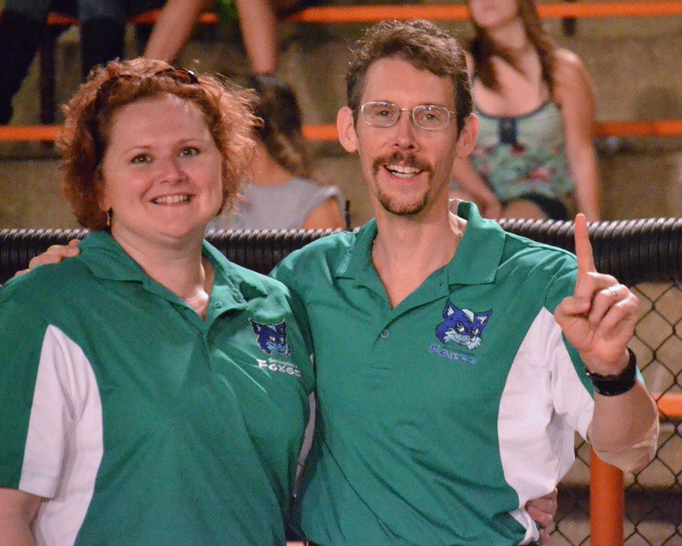 Dr. Todd and Eugena stating the obvious, that 'These 2012 Division Championship Foxes ARE #1!'
