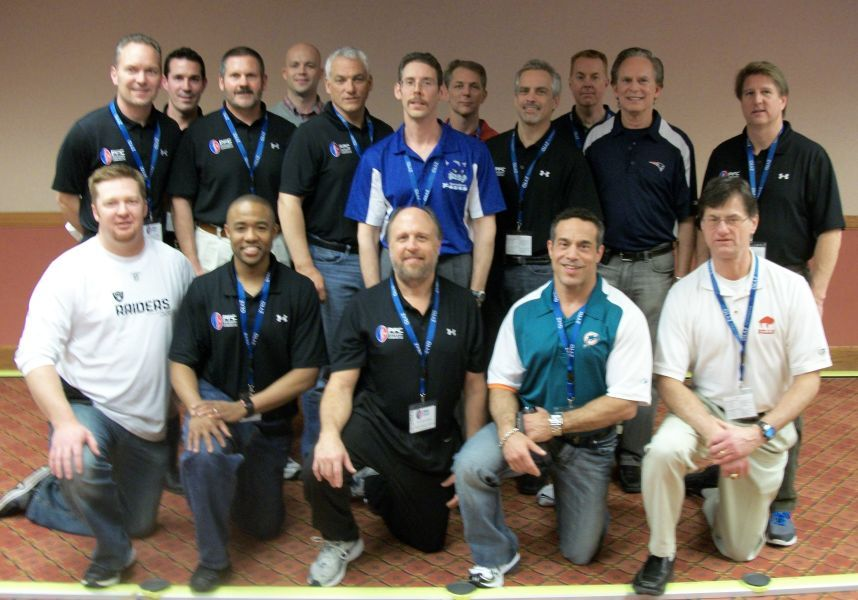Dr. Todd Austin (middle in blue & white Springfield Foxes shirt) with members of the Pro Football Chiropractic Society at the 2011 annual conference.