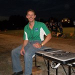 Me hanging out on the sidelines with my table during the 1st Foxes victory of the year!