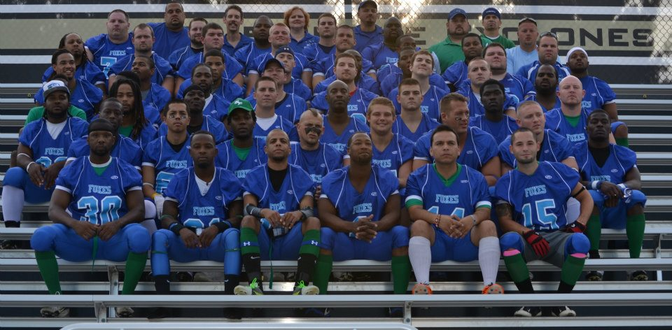 Springfield Foxes team photo at SHG Stadium on 8-11-12