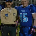 Dr. Todd Austin with Springfield Foxes defensive player #45 Michael Rose