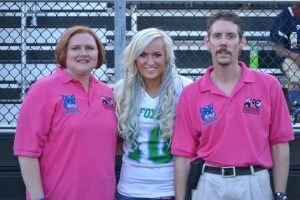Eugena Austin, Gracia Harrison & Dr. Todd Austin at the 8-24-13 Foxes / Mustangs game.